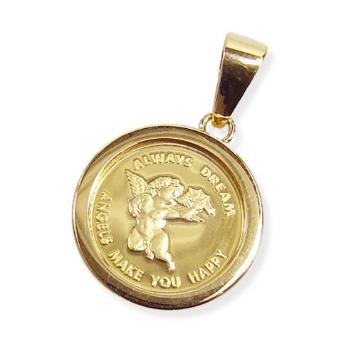 純金コイン ペンダントトップエンゼル金貨2.5g 強化ガラス枠【レディース,激安,特価,通販】