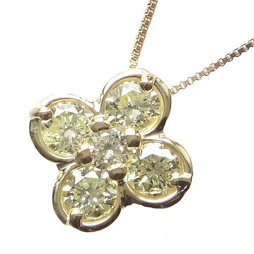 18金クローバーネックレス ダイヤモンド0.43ct 【ギフトラッピング済み】 (0.43)【送料無料】【4月誕生石ダイヤ】【レディース,激安,特価,通販】