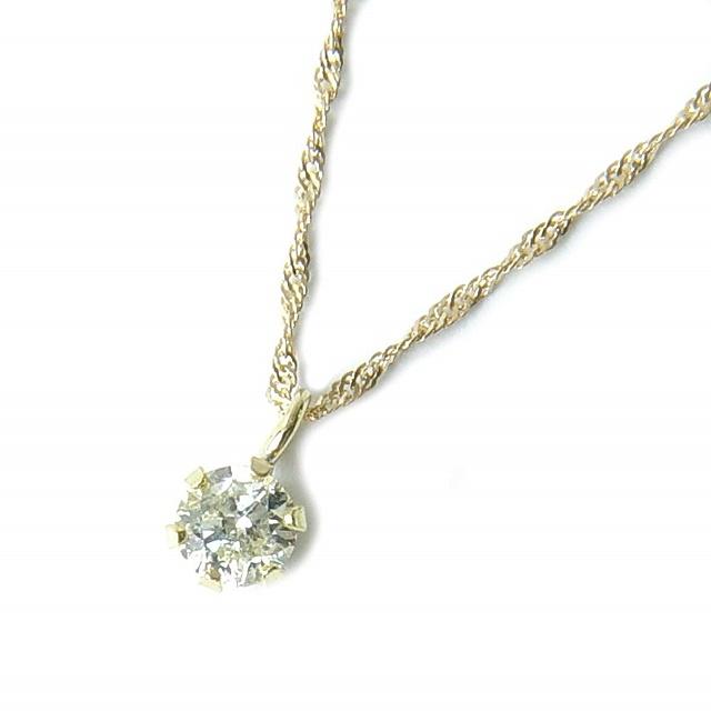 18金ダイヤペンダントネックレス0.15カラットクリアーライトブラウンの輝き!【送料無料】【4月誕生石ダイヤ】【レディース,激安,特価,通販】