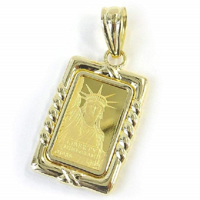 クレディ スイス社発行の純金インゴットはなんと2.0グラム 純金 インゴットペンダントトップリバティ自由の女神2gリバーシブル 送料無料 激安 記念日 特価 ついに再販開始 通販 レディース