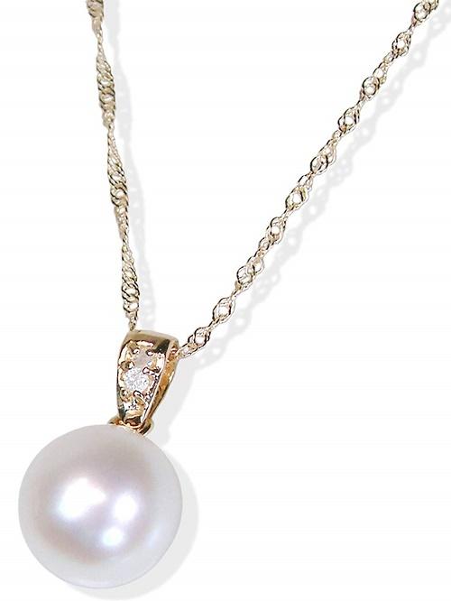 飽きないベーシックデザインネックレス いつでも送料無料 18金和珠本真珠ペンダント約8.5ミリアップ 送料無料 6月誕生石真珠 特価 通販 レディース 激安 ランキングTOP10