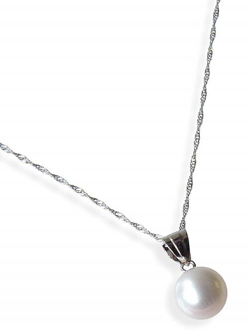 飽きないベーシックデザインネックレス プラチナ和珠本真珠ペンダント約7.0ミリアップ SALE開催中 激安通販ショッピング 送料無料 6月誕生石真珠 特価 レディース 激安 通販