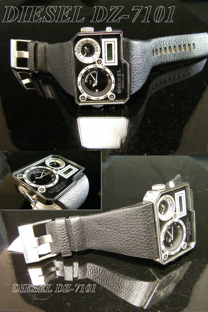 NewModel diesel leather band whole triple DZ7101