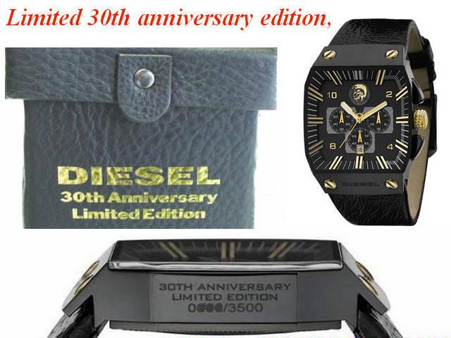 나머지 1 개! ≪ 당일 발송 ≫ ● ≪ 한정 300 책 ≫ 디젤 시계 Diesel 시계 ☆ 30 주년 기념 한정 모델