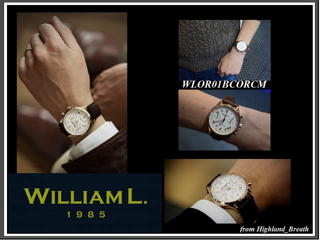 ≪Same day shipment >> ★ William L watch WILLIAM L. 1985 watch chronograph Chronographs men / Lady's / white WLOR01BCORCM