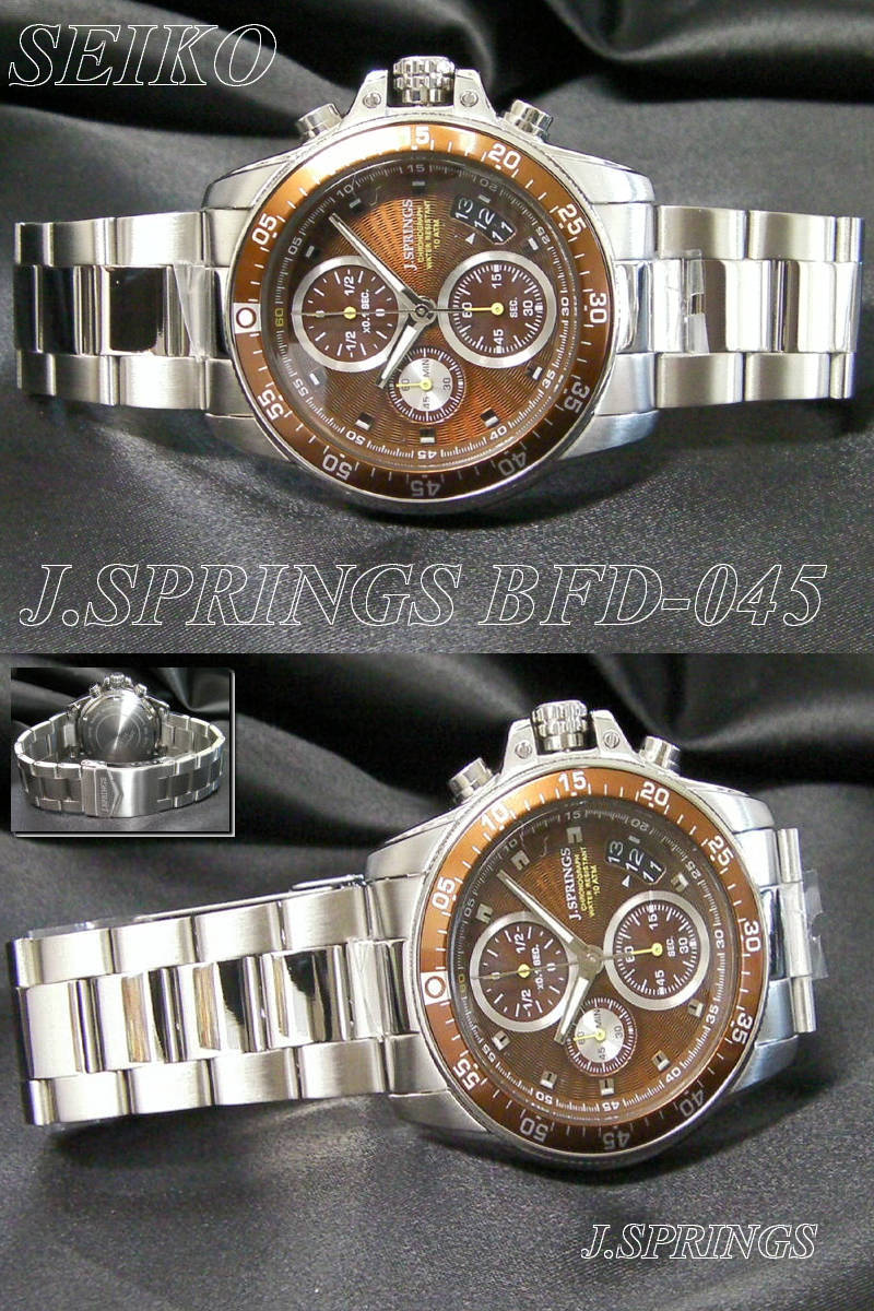 J.SPRINGS SEIKO 시계 세이 코 시계 BFD045 남성 크로 노 그래프 SII BFD-045