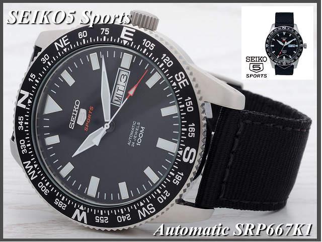 ≪Same day shipment    ☆ SEIKO watch SEIKO 5 スポー SRP667K1 self-winding watch  waterproofing e4d4d98be