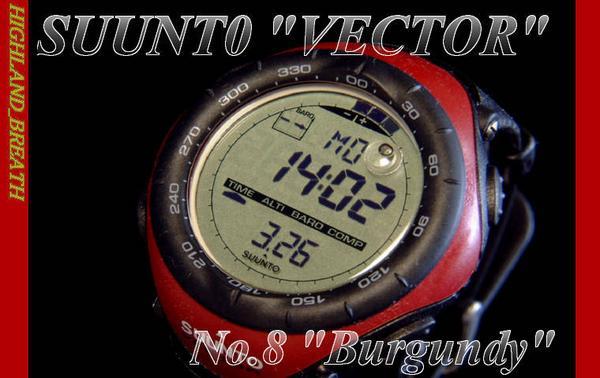 Production end / last in stock Suunto SUUNTO VECTOR Burgundy SS010600B10