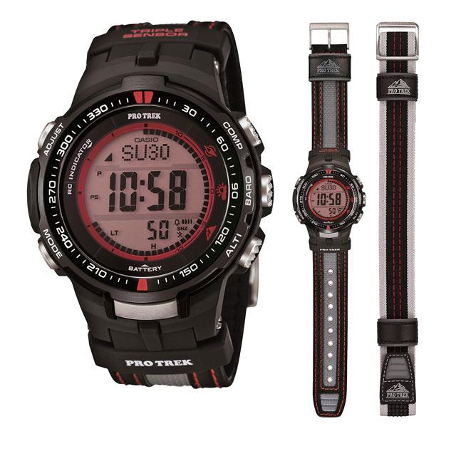 ★替えベルト付≪即日発送≫★CASIO 腕時計 カシオ 腕時計 G-SHOCK 腕時計(ジーショック 腕時計) PROTREK 腕時計 プロトレック 腕時計 ソーラー電波 PRW-3000G-1 パスファインダー