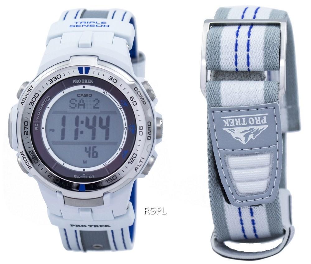 ★替えベルト付≪即日発送≫★CASIO 腕時計 カシオ 腕時計 G-SHOCK 腕時計(ジーショック 腕時計) PROTREK 腕時計 プロトレック 腕時計 ソーラー電波 PRW-3000G-7 パスファインダー