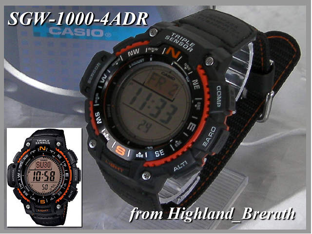 "★ «same day shipping» triple sensor ★ CASIO watches Casio g shock watch g-shock Watch (""Watch) SGW-1000B-4/SGW-1000B-4A"