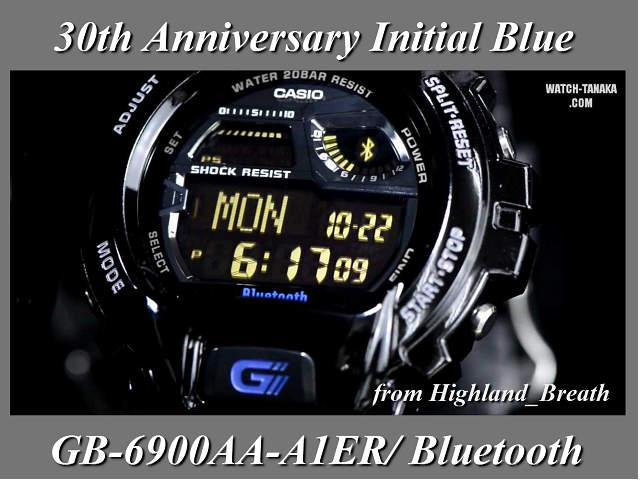≪ 당일 발송 ≫ Bluetooth 블루투스에서 CASIO 손목시계 카시오 시계 g 쇼크 시계 G-SHOCK 시계 (지 쇼크 시계) 30 주년 기념 한정 모델 (이니셜 블루) GB-6900AA-A1