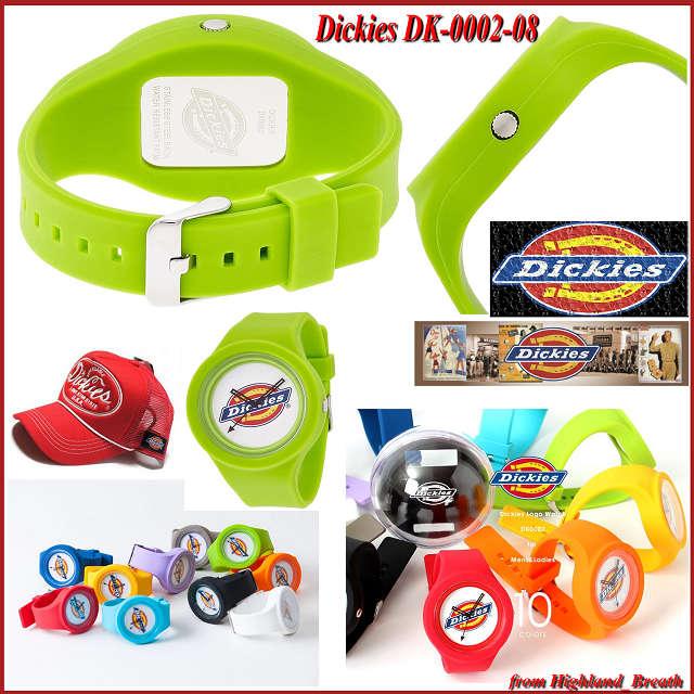 ◆各色リストバンド付! ≪即日発送≫●ディッキーズ Dickies DK-0002 DK-0002-08 グリーン ライトグリーン 緑