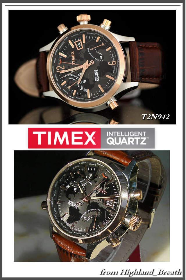 ●Timex Timex watch TIMEX T2N942 ≪ world thyme ≫ leather belt