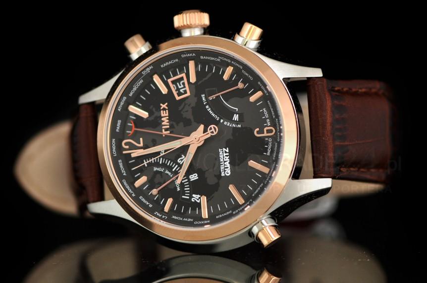 ≪即日発送≫●TIMEX 腕時計 タイメックス 腕時計 T2N942 ≪ワールドタイム≫レザーベルト