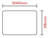 【送料無料】ラベルサイズ:幅40mm×縦28mm 1巻あたり640枚  合成紙強粘感熱ラベル(40T28U) 100巻入り