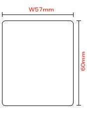 上質紙強粘感熱ラベル(57T60S) 100巻入り