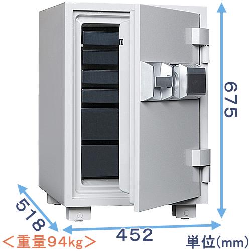 テンキー式耐火金庫(MEK68-6)