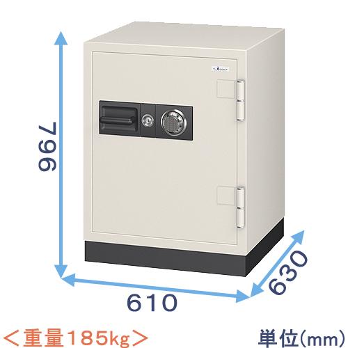 ダイヤル式耐火金庫(CS-90) 業務用(中型・大型) エーコー