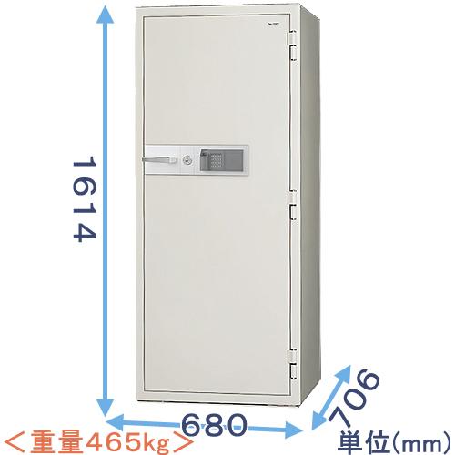 指紋認証式強化型耐火金庫(KCJ54-2FPE) 業務用(中型・大型) 日本アイ・エス・ケイ