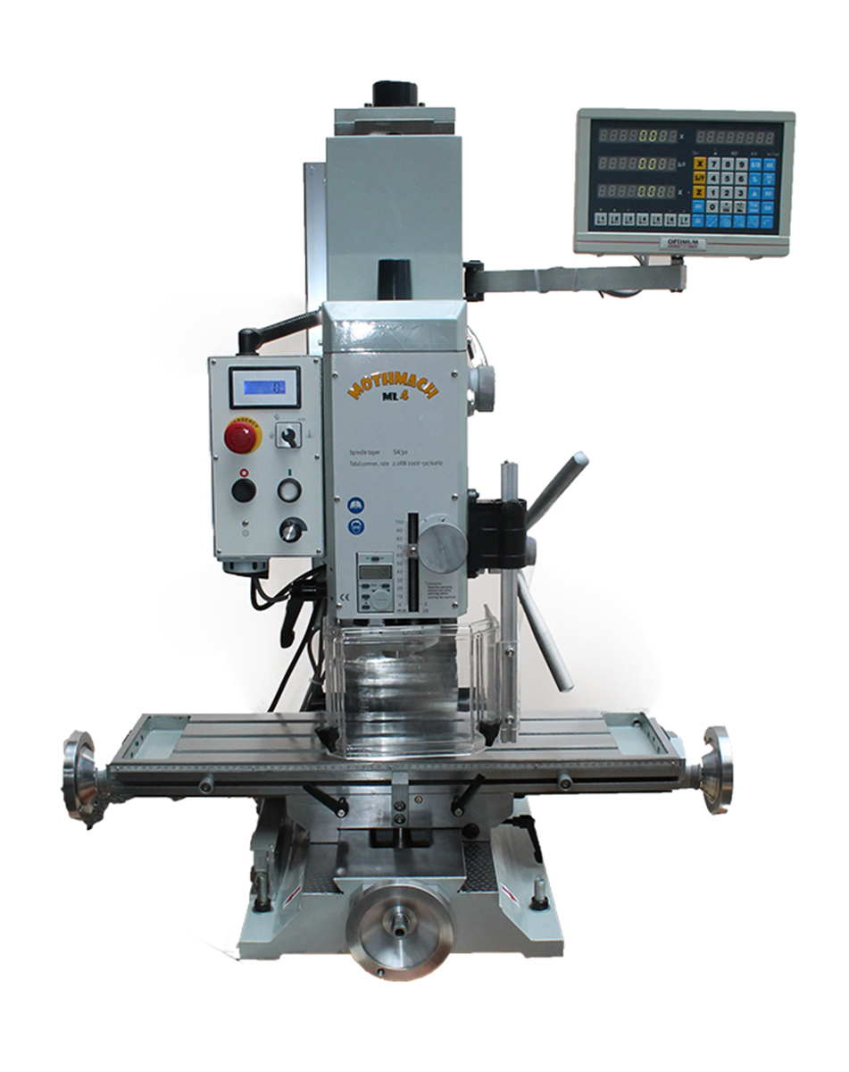 Tabletop Milling Machine Mothmach Ml4 Comes With Digital Readouts Display Specifications