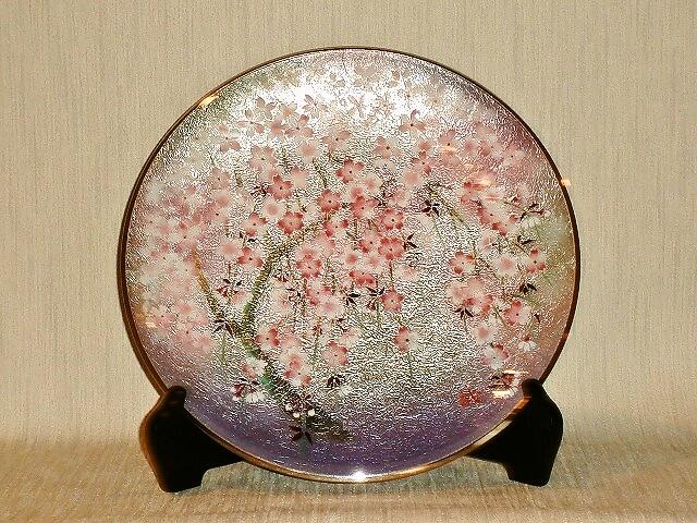 七宝焼 飾皿 10丸桜