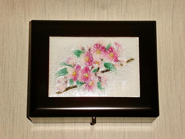 七宝焼 宝石箱 桜