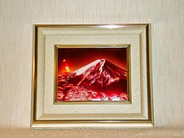 七宝焼 額 赤富士