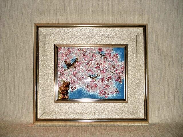 七宝焼 額 桜