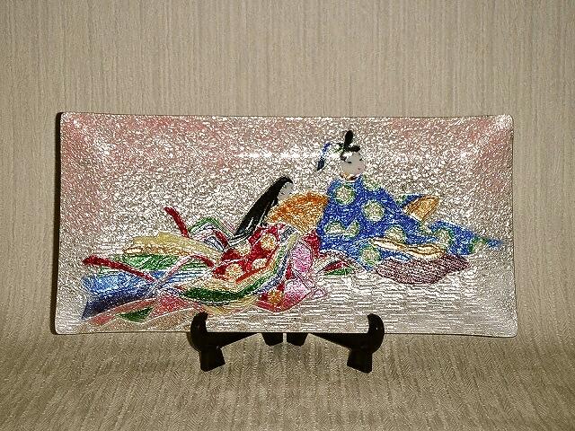 七宝焼 飾皿 平安絵巻