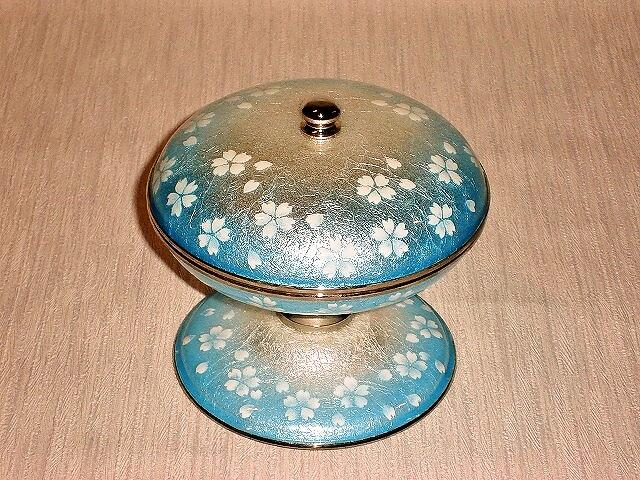 七宝焼 キャンディーボ-ル 桜ブルー