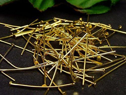 26mm ゴールド 金色 パーツ 約1000個以上 大決算セール ビーズパーツ パワーストーン用 天然石 P1029G 爆売り 100グラム Tピン 送料無料有 今月の半額 パワーストーン