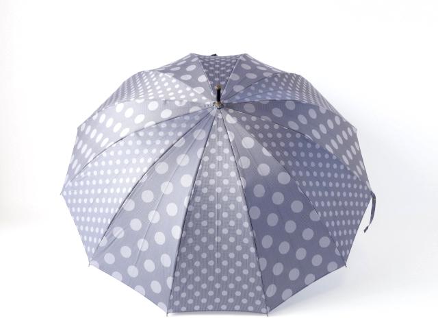 All Paul Stuart Stuart brand umbrella luxury department store umbrella umbrella umbrella Casa Womens brand fashion ladies umbrella bamboo dot polka dot gray ○ p20
