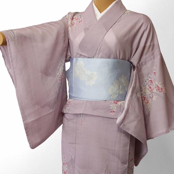 【レンタル】宅配レンタル着物セット(夏物・薄物・紗紬)「Mサイズ」 (4002)