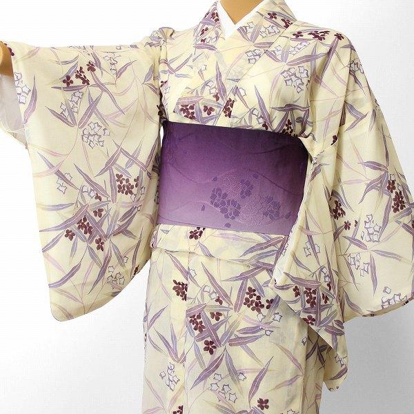 【レンタル】宅配レンタル着物セット(夏物・薄物・紗)「Mサイズ」 (4012) お正月・初詣・成人式