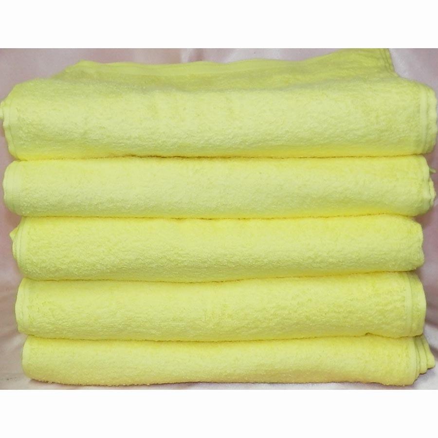 カラータオル200匁 ベトナム製 黄色 120枚組