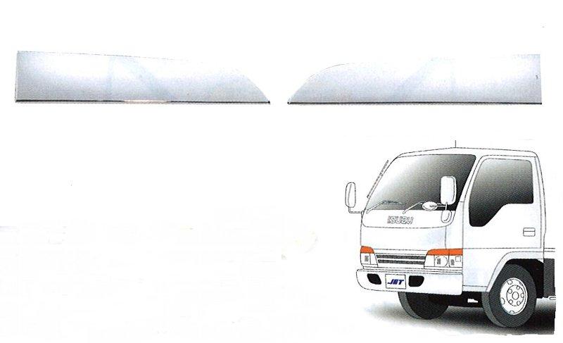 エルフ トラック用品 ファッション通販 常陸美装 いすず 人気急上昇 メッキアイライン NEWエルフ用 526021