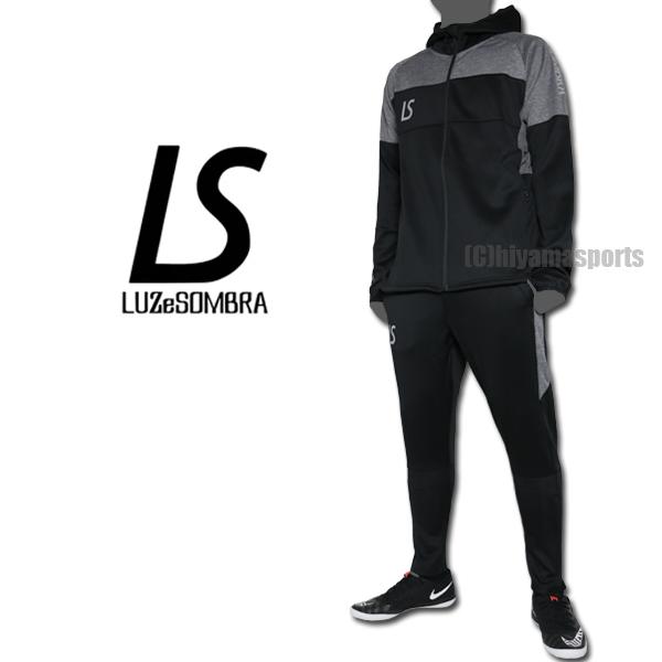 LUZeSOMBRA ルースイソンブラ シングルフェイスジャージフーディーフルジップジャケット&シングルフェイススーパースリムフィットロングパンツ F1911114-BLK-F1911410-BLK サッカー フットサル