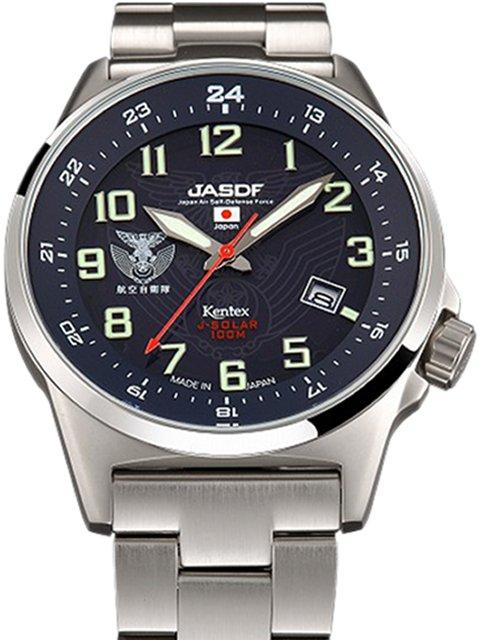 Kentex自衛隊腕時計:J-SOLAR航空自衛隊ソーラースタンダードメタルバンドモデルS715M-05正規品 JASDF ケンテックス