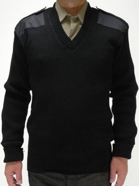 アメリカ軍GI Vネックコマンドセーター(ブラック) ROTHCO(ロスコ) ミリタリー