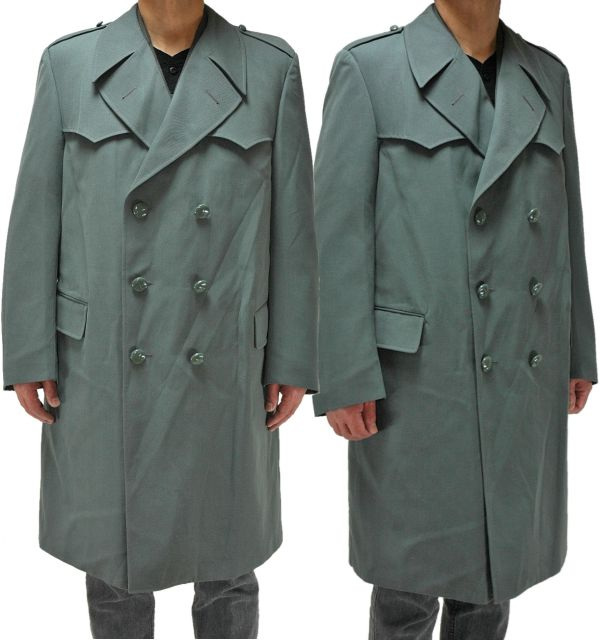 Italian Military Gabardine Cotton Trench Coat Gray