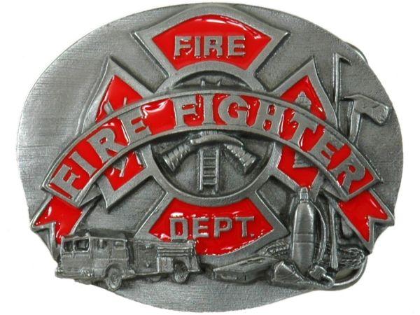 ウエスタンベルトバックル★Fire Fighter/Fire Dept 消防士 消防署 メンズ 男【レターパックライト可】