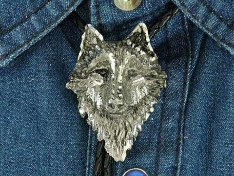 3D Wolf Head Bolo Tie | 루프 태국/서양 나이프 태국