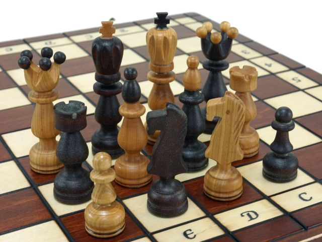 Detailed Chess Set Part - 40: Chessboard Chess Piece Set Made In Cherry Wood Wooden Chess Set 44cm *44cm  (brown