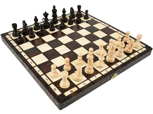 ポーランド製ハンドメイド木製チェスセット:Olympia(オリンピア)ブラウン35cm×35cm chess set 駒盤 数量限定販売【楽ギフ_包装】