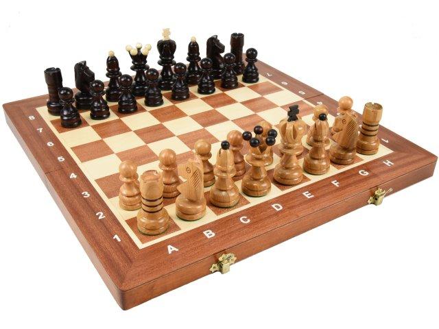 ポーランド製 木製チェスセット 寄木細工 chess set:Cassiopeia(カシオペア)40.5cm×40.5cm 駒盤 数量限定販売