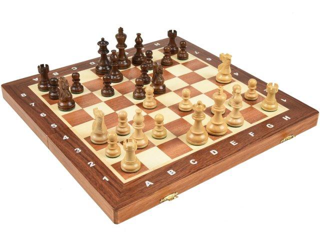 高級 木製 チェスセット:アメリカン クラシック ナイト アカシア 40cm×40cm ポーランド製 American Classic Knight Acasia chess set 駒盤 数量限定販売