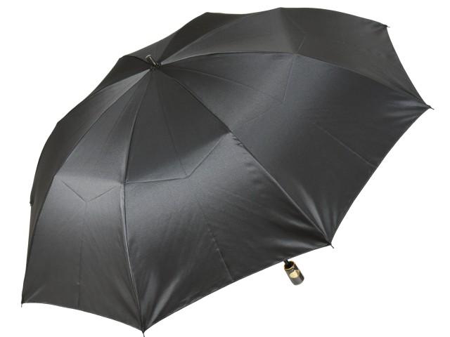 おしゃれなカラーリング手元・石突の折りたたみ傘 シャンブレイ-M(グレー) 前原傘 かさ 前原光榮商店製メンズ雨傘 男
