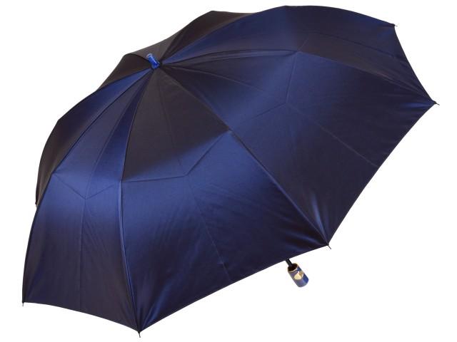 おしゃれなカラーリング手元・石突の折りたたみ傘 シャンブレイ-M(ネイビー) 前原傘 かさ 前原光榮商店製メンズ雨傘 男