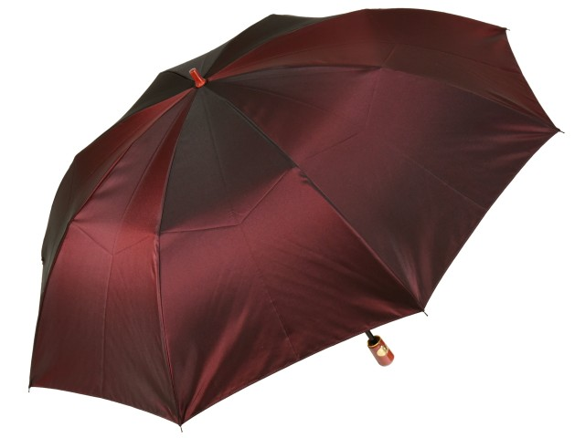 おしゃれなカラーリング手元・石突の折りたたみ傘 シャンブレイ-M(ボルドー) 前原傘 かさ 前原光榮商店製メンズ雨傘 男